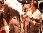 신세계센텀시티에 겨울 가죽옷