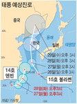 태풍 2개 북상…한반도 비상
