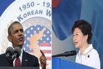 """오바마 """"6·25 한국의 승리""""…박근혜 """"북, 핵개발 포기해야"""""""