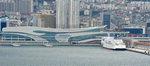새 국제여객터미널 접안 점검