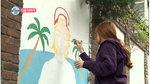 '나 혼자 산다' 강남과 유라의 핑크빛 벽화그리기