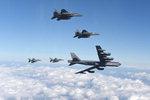 핵미사일 탑재 미국 B-52 폭격기 한반도 출격