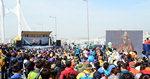 시민 3만7000여 명 참가…바다위 걸으며 행복한 하루