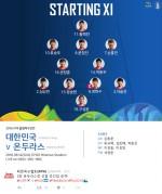 [리우올림픽 축구] '황희찬 원톱' 한국, 온두라스전 선발 라인업 공개