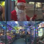 [영상] 크리스마스 버스를 모는 산타, 부산을 달리다