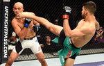 UFC 전설 BJ펜, 신예 로드리게스에 2라운드 TKO패
