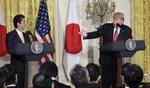 """트럼프-아베, 긴급 기자회견 열고 """"北 미사일 용납 못해"""""""
