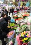 얼어붙은 꽃시장, '도깨비' 요술에 웃음꽃