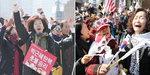 """시민들 """"오만한 권력 응징""""…탄핵 반대단체 """"인정 못해"""""""