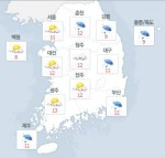 """[오늘 날씨] 부산 등 일부 지역 천둥·우박 예상...기상청 """"안전에 유의"""""""