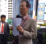 """[영상] 부산 '소녀상 테러' 예고 70대 등장 """"언젯적 일인데, 日 마음 풀어줘야"""""""