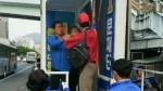 민주당 유세차량 난입해 멱살잡고 욕설한 50대 체포