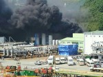 """[영상] 거제 삼성중공업서 화재 발생...""""인명피해 없어"""""""