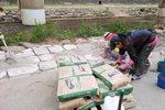 자연형 하천 온천천 시멘트로 제방 복구