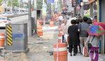 BRT(버스전용차로) 공사로 위험에 내몰린 보행자 안전