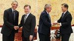 문재인 대통령, 방한 오바마·바흐 IOC위원장 접견