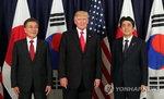 """한·미·일 정상, 첫 대북 공동성명서 """"추가 제재 포함한 결의 채택하기로"""""""