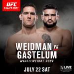 '대마초 논란' 게스텔럼 vs '뉴요커의 자존심' 와이드먼, 23일 UFC 파이트 나이트 뉴욕 격돌