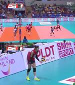 [아시아여자배구선수권대회] 한국 위기, 태국에 0-2로 뒤져...체력 한계 양효진 공백