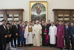 프란치스코 교황 만난 한국 종교지도자들