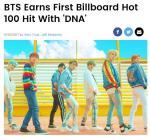 방탄소년단 'DNA', 미국 빌보드 '핫 100' 85위로 첫 진입