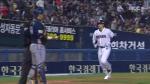 [플레이오프] 김재환의 '쓰리런 홈런!'