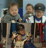 '슈퍼맨이 돌아왔다' 안현수-제인, 세계 최초 포대기 스케이팅 도전 '미소만발'