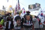 트럼프 대통령 방한 찬반 집회