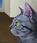 [아침의 갤러리] 거실의 고양이-이진이 作