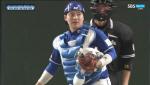 [한국 일본 야구] 기습 송구로 3루 주자 잡은 한승택
