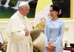 수치 만난 교황…로힝야족과 화합 촉구