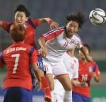 E-1 챔피언십 여자축구 한국, 북한에 1점 내준 채 후반전