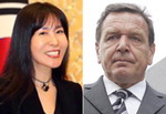 슈뢰더 전 독일 총리, 한국 여성과 열애 공식화