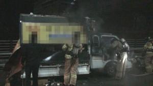 [영상] 불 난 트럭에서 신원불상의 남성 숨진채 발견'