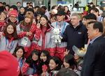 평창동계올림픽 G-9…IOC위원장도 왔다