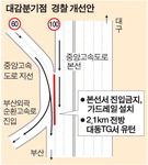 """경찰 """"대감분기점 X자 교행(부산외곽순환로 진입 구간) 없애자"""""""