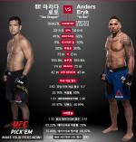 [UFC] 마치다, 하락세 앤더스 꺽고 무패 신화 이어갈까