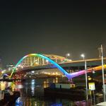 부산시, 부산대교 LED 경관 조명 본격 가동