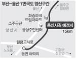 부산~울산 7번국도 우회도로 양산구간 '통신사길' 된다