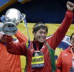 일본 30대 공무원, 보스턴마라톤 우승