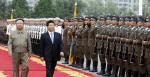 국군 의장대 사열 받는 김정은...북한군 사열 받은 김대중·노무현 전 대통령