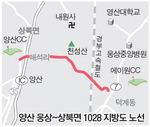"""""""양산 웅상~상북 1028호선 지방도 빨리 개설하라"""""""