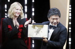 일본 고레에다 히로카즈 감독의 '만비키 가족' 황금종려상