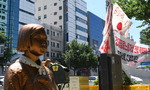 노동자상 놓고 '이념 갈등의 장' 된 일본 영사관 앞 도로