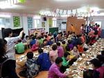 부산 사하구 다대교회, 어르신 150여 명 모시고 점심식사 대접