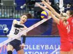 한국 여자 배구 세계 5위 러시아 대표팀 격파…이대로 우승으로?