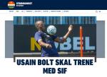 육상 단거리 황제, 축구 선수 재도전...노르웨이 스트룀스고세 입단 테스트