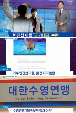 변진섭 아들 국제수영대회 참가 자격 논란 '국가대표 아냐'