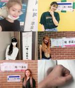 트와이스, 日 콘서트 마치고 투표 완료 '개념돌' 인증