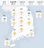 [오늘날씨]차차 맑아지는 하늘…낮 최고 29도 기록할듯